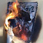 フィブロックを燃やしてみた【熱膨張耐火材】