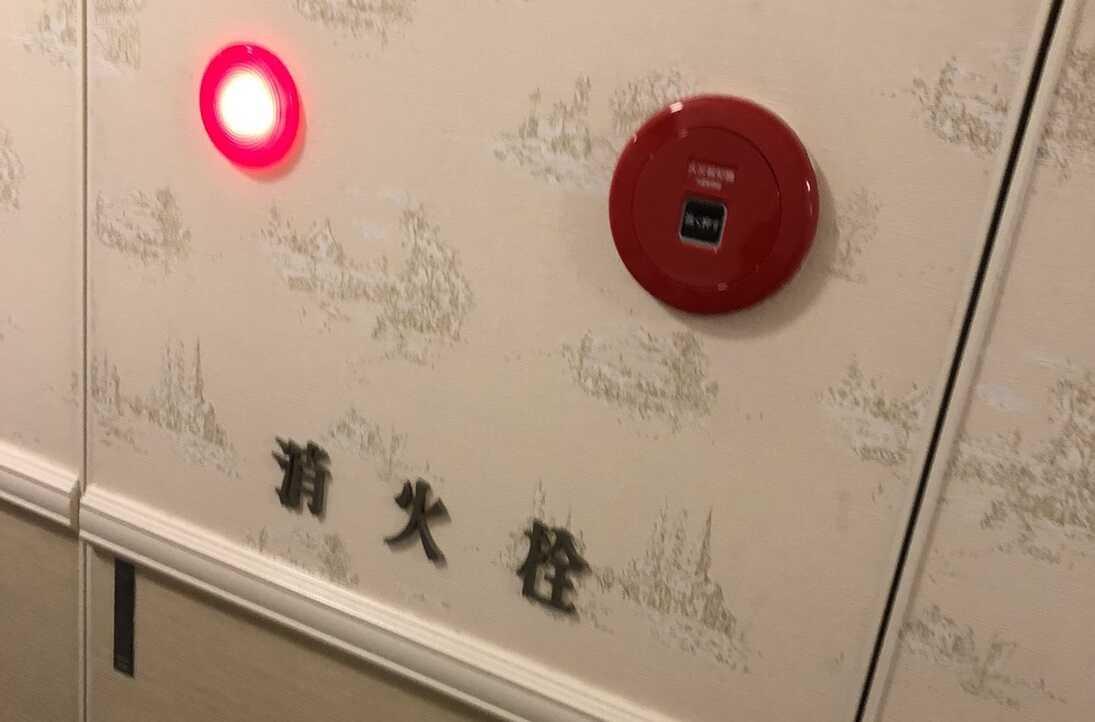 消火栓にクロスを貼った画像