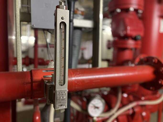 消火栓ポンプ性能試験